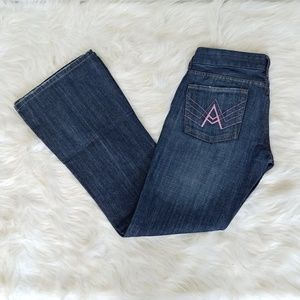 "7 for all mankind ""a pocket"" flare jeans, size 29"